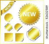 set vector gold stickers   Shutterstock .eps vector #52632589
