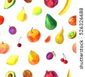seamless pattern with... | Shutterstock . vector #526326688