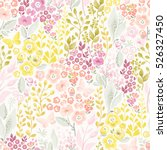 tender seamless pattern with... | Shutterstock .eps vector #526327450