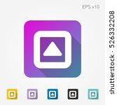 colored icon of up arrow symbol ...
