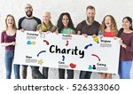 charity donations help support... | Shutterstock . vector #526333060