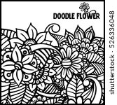 pattern for coloring book.... | Shutterstock .eps vector #526336048