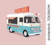 Food Truck Illustration. Vecto...