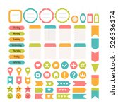 design elements for website.... | Shutterstock .eps vector #526336174
