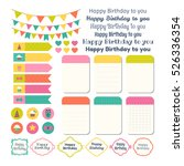 set of birthday party design... | Shutterstock .eps vector #526336354