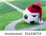 Santa Claus Red Hat On Soccer...