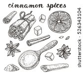 vector cinnamon spices.vinyage...