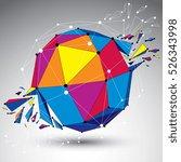 perspective technology... | Shutterstock .eps vector #526343998