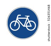 bicycles only road sign | Shutterstock .eps vector #526351468