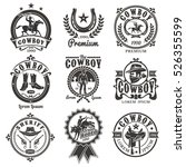set of vector rodeo logos ... | Shutterstock .eps vector #526355599