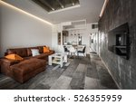interior design of modern... | Shutterstock . vector #526355959