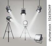 set of vector scenic spotlights ... | Shutterstock .eps vector #526356349