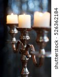 Silver Candlestick With Three...
