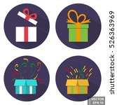 gift box. set. icon. isolated...