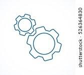 cogwheel and development  blue...