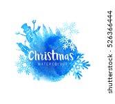 festive christmas vector...   Shutterstock .eps vector #526366444