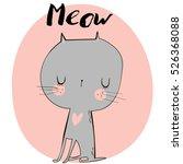 cute doodle kitten | Shutterstock .eps vector #526368088