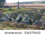 derelict buildings of dunsford... | Shutterstock . vector #526370410