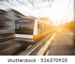 motion blurred of high speed... | Shutterstock . vector #526370920
