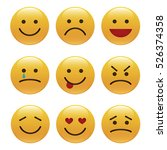 set of emoticons  icon pack ...   Shutterstock .eps vector #526374358