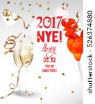 new year  eve party invitation... | Shutterstock .eps vector #526374880