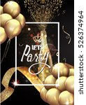 party background with gold air... | Shutterstock .eps vector #526374964