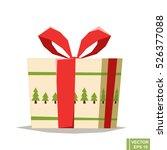 present  cute cartoon vector... | Shutterstock .eps vector #526377088