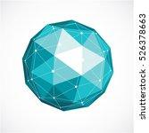 vector dimensional wireframe... | Shutterstock .eps vector #526378663