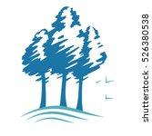 three pines silhouette vector ... | Shutterstock .eps vector #526380538
