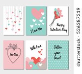 special card for a happy... | Shutterstock .eps vector #526387219