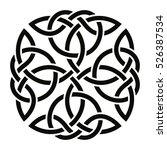 celtic national ornament in the ... | Shutterstock .eps vector #526387534