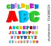 children abc. large letters in... | Shutterstock . vector #526388224