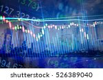 charts of financial instruments ... | Shutterstock . vector #526389040