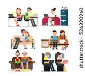 using laptop set | Shutterstock .eps vector #526390960