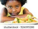 close up face shot of little... | Shutterstock . vector #526395280