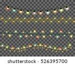 christmas garlands  decorations ... | Shutterstock .eps vector #526395700