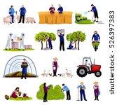 farmers and gardeners work... | Shutterstock .eps vector #526397383