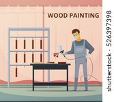 professional woodwork painter...   Shutterstock .eps vector #526397398