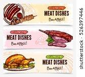 hand drawn meat horizontal... | Shutterstock .eps vector #526397446