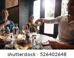 group of friends enjoying an... | Shutterstock . vector #526402648