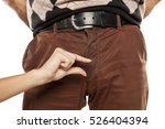 woman show with finger size...   Shutterstock . vector #526404394