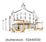 street cafe | Shutterstock .eps vector #52640530