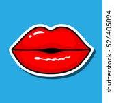 lips kiss. vector patch ...   Shutterstock .eps vector #526405894