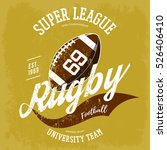 rugby ball logo for t shirt... | Shutterstock .eps vector #526406410