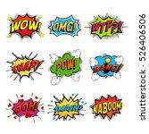 set of comic speech bubble... | Shutterstock .eps vector #526406506