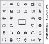 tablet icon. device icons... | Shutterstock .eps vector #526407196