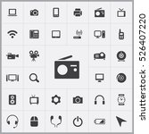 radio icon. device icons... | Shutterstock .eps vector #526407220