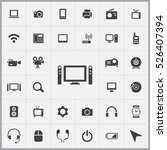 home theatre icon. device icons ... | Shutterstock .eps vector #526407394