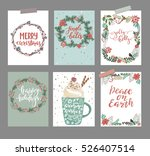 christmas greeting or... | Shutterstock .eps vector #526407514