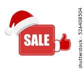 christmas speech board with... | Shutterstock .eps vector #526408504